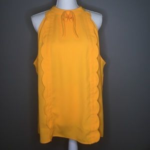 Victoria Beckham Canary Yellow Bow Tank Top Summer